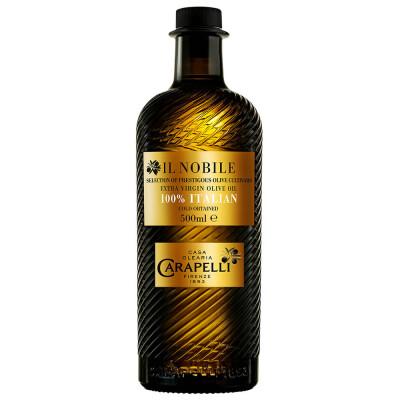 Масло Carapelli 500мл оливковое Extra Virgin нобиль нерафинированное ст\б