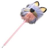Ручка шариковая Profit пушистый котик 0,7 синяя рш-6109