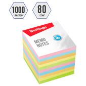 Блок для записи Berlingo стандарт 9*9*9см цветной 191259