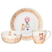 Набор посуды обеденный 3пр Lefard Fasion принцесса 415-2201