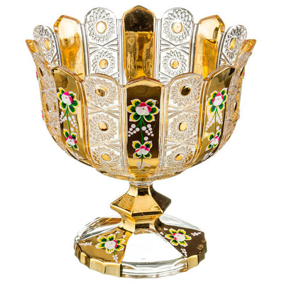 Конфетница 24*25см на ножке Lefard gold glass 195-105