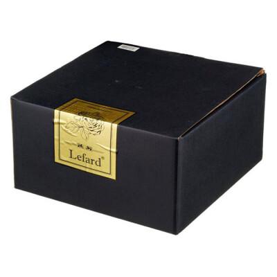Тортовница 27*10см на ножке Lefard gold glass 195-131