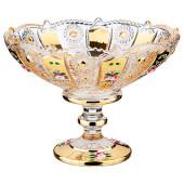 Конфетница 19,5*19,5*15см Lefard gold glass 195-171