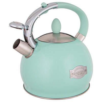 Чайник 3л Agness со свистком бирюзовый термоаккумулирующее индукционное дно 937-838