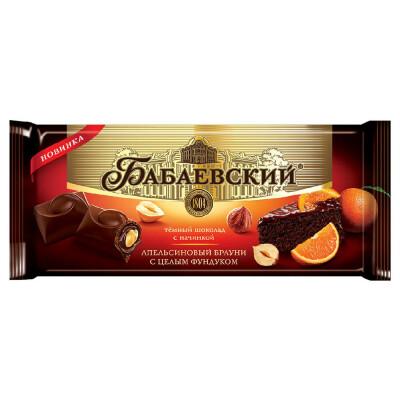 Шоколад бабаевский 165 г апельсиновый брауни и цельный фундук