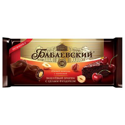 Шоколад бабаевский 165 г вишневый брауни и цельный фундук