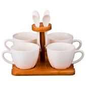 Чайный набор 12пр 4персоны 200мл Lefard нэйтив на подставке 587-100