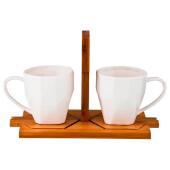 Чайный набор 4пр 2 персоны 220мл Lefard нэйтив на подставке 587-110