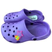 Пантолеты пляжные детские крос ек-16м13   р 34-35сиреневые