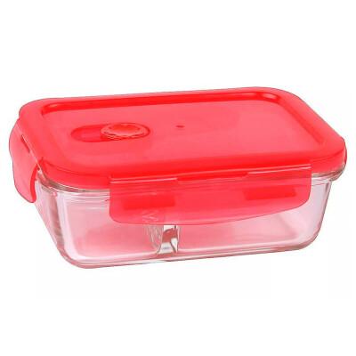 Контейнер 600мл росенберг пищевой прямоугольный с разделителем стекло rgl-230142