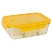 Контейнер 1000мл росенберг пищевой прямоугольный с разделителем стекло rgl-230146