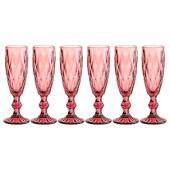 Набор бокалов для шампанского 150мл 6шт ромбо серия Lefard Muza Color 781-114