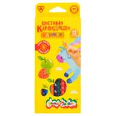Набор цветных карандашей Каляка-Маляка 12цв трехгранные ароматизированные