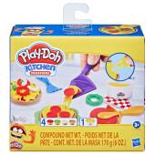 Набор игровой для лепки Hasbro Play-Doh маленький шеф-повар сырная пицца e6686
