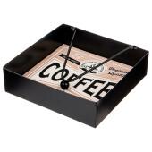 Подставка для салфеток 18*18*5см кофейное и чайное время 124-189