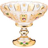 Конфетница 14*14*12см Lefard золотое стекло 195-170
