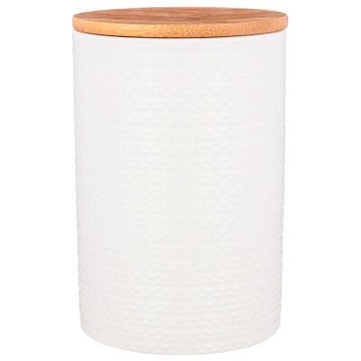 Набор из 3-х емкостей 650мл для сыпучих продуктов 10*10*15см с бамбуковой крышкой 490-430