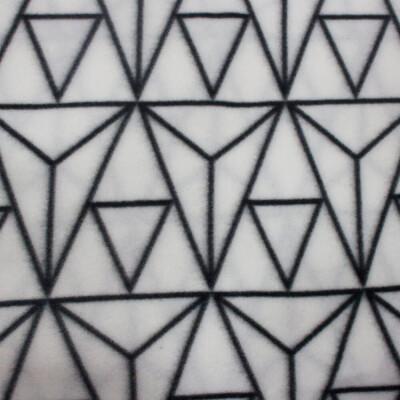 Плед флис Vector Belezza белый 130*170 см геометрия