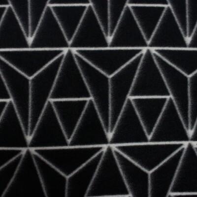 Плед флис Vector Belezza черный 130*170 см геометрия