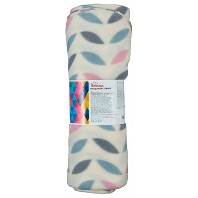 Плед флис Scandi Belezza 130*170 см розовый листочки