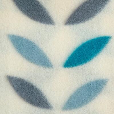 Плед флис Scandi Belezza 130*170 см бирюза листочки