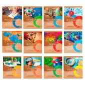 Набор тетрадей 36 л для всех предметов 12 шт профит эко-серия