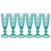 Набор бокалов для шампанского 6шт 150мл Lefard ромбо Muza Color 781-113
