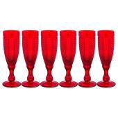 Набор бокалов для шампанского 6шт 150мл Lefard гранат Muza Color 781-155
