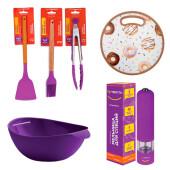 Набор кухонных принадлежностей 6пр Тут Просто фиолетовый