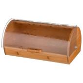 Хлебница 36*21*17 см агнесс кантри деревянная с пластиковой крышкой 938-043