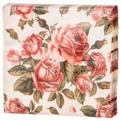 Салфетки 33*33см Lefard корейская роза 3 слоя 588-018