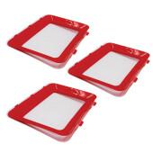 Набор контейнеров для кухни Unigood 30*22*3 см красный 3 шт