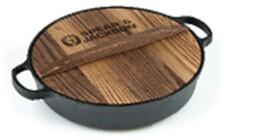 Сковорода 30см спиэ & джексон чугунная деревянная крышка sj-ci105