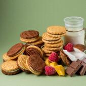 Печенье сахарное мини со вкусом шоколада сладояр