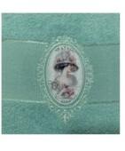 Набор полотенец 50х85+70х135 прованс дама с розовыми розами