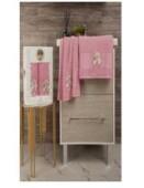 Набор полотенец 50х85+70х135 прованс балет розовый