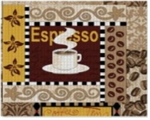 Набор салфеток 3шт 30*30 домвелл рогожка кофейное изобилие 257044
