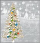 Салфетки Home Collection 20шт 33*33см 3 слоя сказочная ель на серебре
