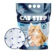 Наполнитель для туалетов домашних животных кэт степ 3л силикагелевый