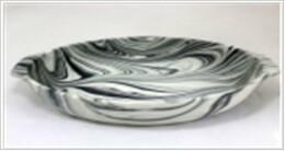 Форма для запекания 36*21*7см абсолют хоум керамика овальная серая